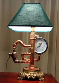 steampunk lamp very cool but way over d diy lamp kit 15 00 random copper pipes 25 00 crazy glue 2 00 guage 8 00 valv pinteres