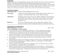 Network Engineer Resume Objective Example Doc Sample Curriculum
