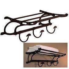 towel rack with hooks. Oil Rubbed Bronze Paris Hotel Style Train Rack Towel Shelf Hooks Bath Hardware 615867180262   EBay With