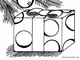 Small Picture Christmas Present Coloring Page Crayon Action Coloring Pages