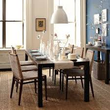 west elm parsons table i think this maybe a good dinning room table with fabric chairs