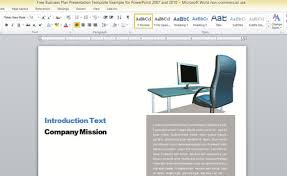 report template for word business report template for microsoft word