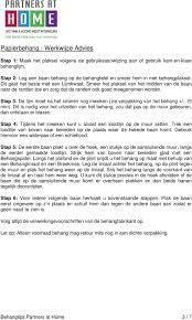 Papierbehang Werkwijze Advies 3 Vliesbehang Werkwijze Advies 4