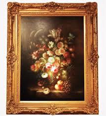 still life painting oil on canvas large gilt frame