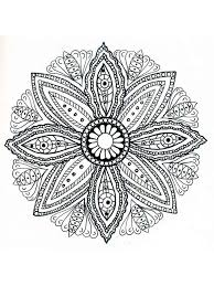 Flower Mandala Coloring Pages For Adults Free Printable Flower