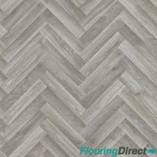 details about grey oak chevron 4mm thick quality vinyl flooring non slip lino kitchen lounge