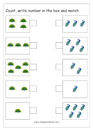 Number Matching Worksheets 1 20 Free Tracing Worksheets Numbers 1 ...