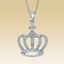 crown necklace nice kay 10k white gold 14 carat tw diamond crown necklace