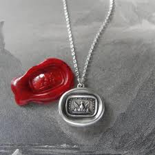 phoenix wax seal necklace step to a new life antique wax seal charm jewelry by rqp