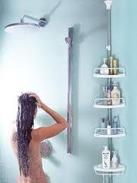 bathroom constant tension corner shower caddy pole commercial grade rustproof