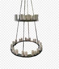 Kronleuchter Decke Licht Leuchte Metallring Png