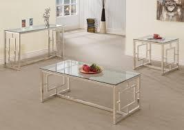 rectangular metal coffee table