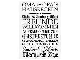 Originelles Geschenk Für Werdende Großeltern Schild Mit Hausregeln