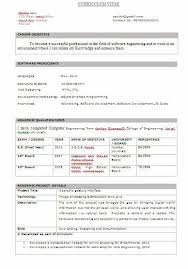 Resume Format For Mca Final Year Student Resume Pdf Download