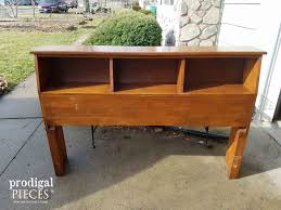 Headboard To Bench Repurposed Bookcase Headboard Bench Prodigal Pieces