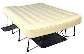 air mattress on bed frame. Unique Bed Ivation EZBed Queen Air Mattress With Frame U0026 Rolling Case Self To On Bed Amazoncom