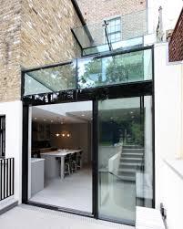 expansive frameless glass canopy