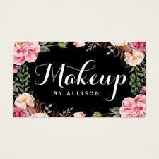 makeup business cards templates free makeup artist business cards zazzle