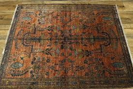 area rug lovely antique rust color fl square 4x4 rugs