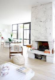 Currently Loving: Whitewashed Brick. Painted Brick FireplacesPainted  BricksRustic FireplacesKitchen FireplacesModern FamilyWhite ...