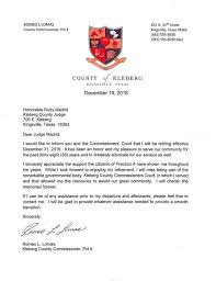 Retirement Letter Romeo Lomas Retirement Letter The Kingsville Record And Bishop