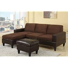 brown sectional sofas. Exellent Sofas Chocolate Brown Microfiber Small Sectional Sofa With Reversible Chaise  Ottoman To Sofas T
