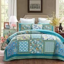 Bedspreads & Quilt Sets- Color_White & DaDa Bedding Greek Mediterranean Fountain Bohemian Patchwork Quilted  Bedspread Set (JHW-603) Adamdwight.com
