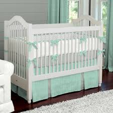 baby nursery entrancing room decoration using turquoise bed valance including furry white area rug and light gray neutral crib bedding gorgeous nur charming