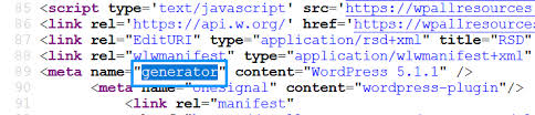 or ctrl f on the devices and type the generator on the search box and enter it that s how you can find the wordpress version from the html meta