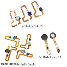 Fingerprint Sensor Scanner Touch ID Verbinden Motherboard Home Button Für Xiaomi  Redmi Hinweis 8 8T 8 Pro Flex Kabel Mobile Phone Flex Cables