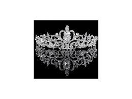 Luxusní Svatební Korunka Do Vlasů Drahokam Stříbrná