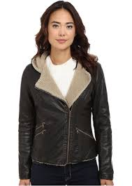 levi s asymmetrical faux leather hooded moto w sherpa