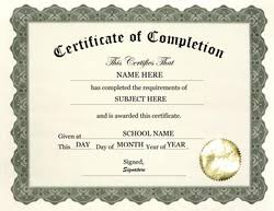 templates for certificates of completion printable word certificate completion templates