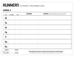 Workout Log Sheets Interesting Running Journal Template Bullet Training Log Ramautoco