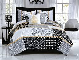 Black White Gold Bedroom Elegant Black White Dot Scroll Teen Girl Bedding Twin Full Queen
