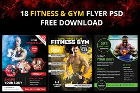 18 Gym And Fitness Flyer Psd Free Download - Designyep