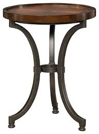small chairside table. Hammary Barrow Round Chairside Table With Mahogany Top And Metal Small End Tables