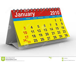 2010 Calendar January 2010 Year Calendar January Stock Illustration Illustration Of