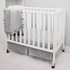 american baby company heavenly soft 3 piece mini portable crib bedding set grey