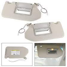 Left Right Sun Visor Gray With Light For Nissan 13 18 Pathfinder 14 17 Infiniti Qx60 W Lamp Nissan Pathfinder Platinum Nissan Infiniti