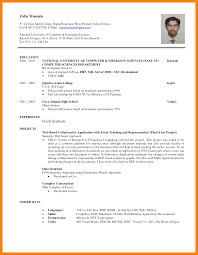Fresh Graduate Resume Sample 4 Sample Resume Format For Fresh