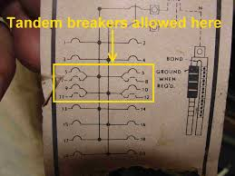 how to know when tandem circuit breakers can be used aka panelboard diagram 2
