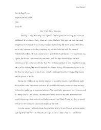 Example of a informative essay