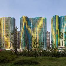 UNStudio uses colour to give identity to faceless South Korean skyscrapers
