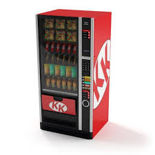 Vending Machine 3d Model Magnificent Kk Red And Black Snack Vending Machine 48D Model CGTrader