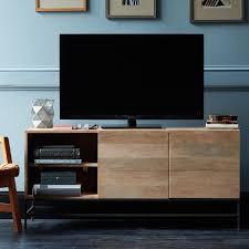 Living Room Media Cabinet Industrial Storage Media Console Large West Elm Uk