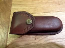 heavy duty brown leather knife case