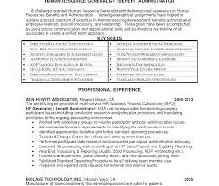 Hr Generalist Resume Excellent Hralist Resume Human Resources Pdf Objective Indian 84