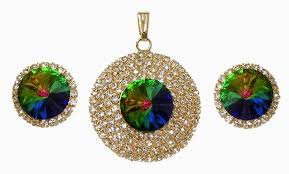 mystic topaz pendant and earrings hover to zoom