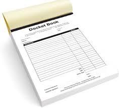 receipt book printing docket book printing docket book printers trade printers ireland
